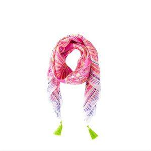 Lilly Pulitzer Amethyst Sunseeker Willa Silk scarf